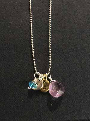 Initial & Birthstone Charm Necklaces